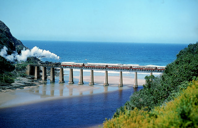 Some of the most beautiful scenery in the world can be seen on this train route.